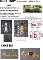 Ostorero Watson Offenhauser - Bobby Grim - 1961 Indy 500 1/32 Slot Car ODG 010