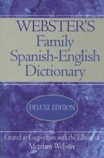 Webster's Family Spanish-English Dictionary - Deluxe Edition - BRAND NEW