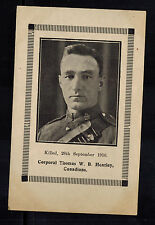 Mint RPPC Real Picture Postcard Canada SOldier Thomas Heatley Killed 1916 WW1
