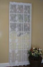 Seashells Starfish Coastal Nautical Lace Ivory Curtains Set of 2 63L Panels