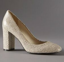 M&S AUTOGRAPH Snake Print REAL LEATHER High Heel COURT SHOES ~ Size 5 ~ BEIGE