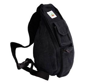 Crossbody Shoulder Messenger Bag Handbag Handmade Hemp organic eco - Free P&P