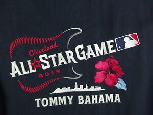 Tommy Bahama Hawaiian All Star Game 2019 Baseball MLB Button Shirt Mens M NWT