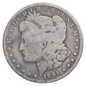 Early 1891-O Morgan Silver Dollar - 90% US Coin *247