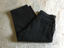 Vintage Lee Jeans Capris Size 27 Waist Faded Black/Gray Women Relaxed Casual