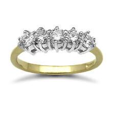 18 Carat Band Very Good Cut Yellow Gold Fine Diamond Rings