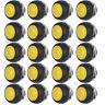 20Pcs Yellow Mini Round Switch 12mm Waterproof Momentary Push button Switch
