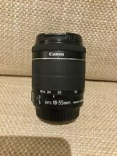 Genuine Canon EF-S 18-55mm f/3.5-5.6 IS STM lente non Nero in scatola