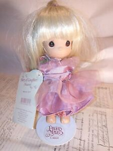Precious Moments Doll Fairy of Laughter Mauve No. 3217 NEW WITH TAGS Stand 2002