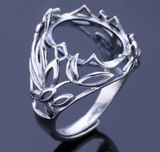 13*16mm 925 STERLING SILVER Semi Mount ring Bases Blanks gift wedding  P2387