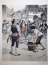 """c71-48 Gravure contes & récits d'Alsace - """"la révolution de la Haute Alsace"""""""