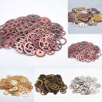 Lots Metal Steampunk Gears Clock Hand Mix Charm Crafts DIY Jewelry Acces