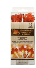 Fall Harvest LEAVES LED Lights 3 ft Strands Thanksgiving Halloween Decorations