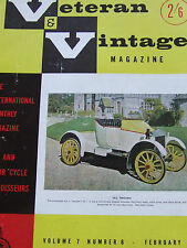 VETERAN VINTAGE MAGAZINE FEB 1963 PIERCE ARROW FELIX SCRIVEN MBE BUGATTI JACKIE