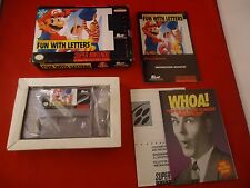 Mario's Early Years: Fun With Letters (Super Nintendo SNES 1994) COMPLETE w/ Box