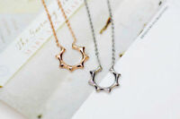 18K White Gold/Rose Gold GP Sun Sign Fashion Pendant Necklace Chain Stunning