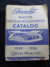 Vintage 1929 - 1954 Chevrolet Parts and Accessories Catalog Book Pickup Truck