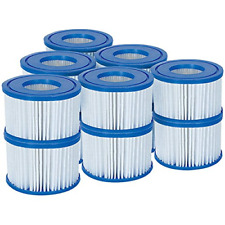 Bestway Filter Cartridge VI for Lay-Z-Spa, White and Blue, 6 Twin Pack