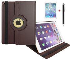Hülle f Apple iPad Air 2 360° Schutzhülle Case Tasche Leder-Imitat Etui braun