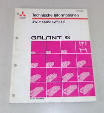 Werkstatthandbuch Technische Informationen Mitsubishi Galant E 30 4 WD ab 1988
