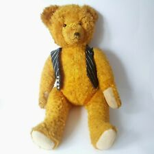 Vintage Teddy Bear Jointed Orange Brown