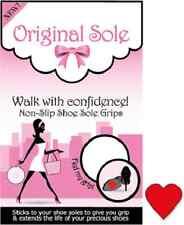 Original Sole - Rouge Cœur Poignées De Chaussure Semelle Anti Dérapant 2 paires