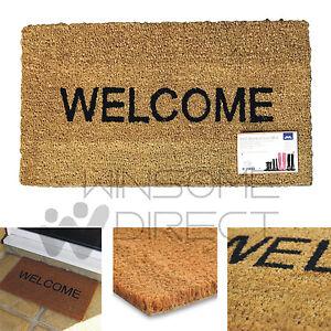 Non Slip PVC Backed Coir Entrance Welcome Reception Floor Doormat Home Door Mat