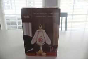 Home Trends Vintage Glass Touch Lamp Polished Brass Finish. NIB FREE SHIPPING.