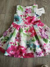 Girls Designer Fun & Fun Pink Green & Blue Floral dress age 8 BNWT
