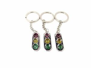 Keyring Keyfob Keychain Car Traffic Light 3D Chain Key rings