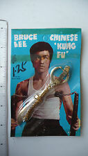 RARE - 1970s Bruce Lee Keychain 9-ring broadsword golden - SEALED