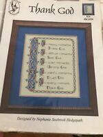 Thank God  counted cross stitch kit, Pegasus publications sealed K 1458