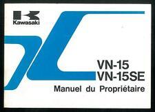 Manuel du Propriétaire KAWASAKI VN 15 -VN15 SE -VN 1500 A6/B6 - 1991/93 Français
