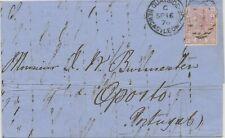GB 1876 QV 2 1/2 d lilacrose pl. 4 (CG) and pl. 5 (IL) each as single postage