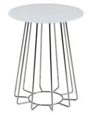 pkline Table basse Boîte en verre, blanc d'appoint de salon coin