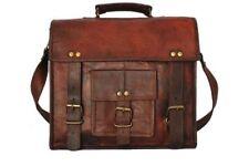 """13"""" Leather Vintage Messenger Shoulder Men Satchel S Laptop School Briefcase Bag"""