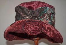 ANTIQUE WOMEN'S HAT 1920's FLAPPER VELVET CLOCHE HAT ROARING 20's LADY'S HAT