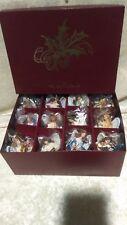 Danbury Mint Ornaments Box Heavenly Angels Nativity Set Jesus All Different