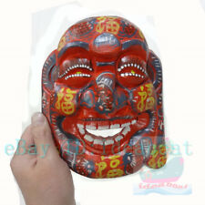 China Folk Art Wood Hand Carved Painted NUO MASK Walldecor-Happy Buddha tall20cm