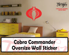Cobra Commander Cartoon logo Wall Vinyl Sticker