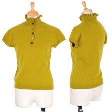 (SALE) Jocomomola Wool design button high neck knit tops Size 40(K-27800)
