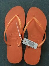 havaianas Slim Fit Ladies/Girls Thongs NEW Size: 9-10 Neon Orange