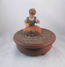 Thorens Anri Wooden Box Made In Switzerland Hand Painted~Repairs