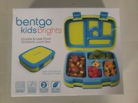 Bentgo Kids Brights Leak-Proof 5 Compartment Bento Lunch Box Bright Blue Green