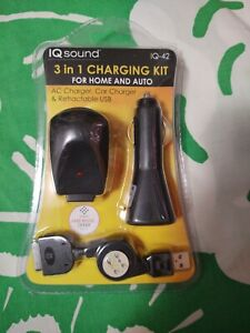 IQ Sound IQ42 3 in 1 Charging Kit for Home and Car Model