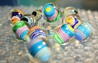 Assorted 22mm Curlicue Marble -- Handmade