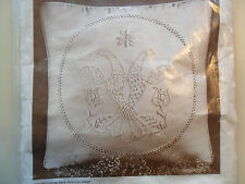"Cathy Needlecraft Candlewickery Cw Dutch Eagle #7807 New! 16 x 16"" Pillow"