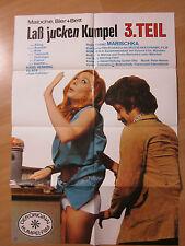 Filmposter * Kinoplakat * A1 * Laß jucken Kumpel 3 - Maloche,Bier+Bett * EA 1974