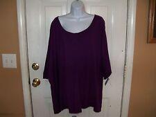 JUST MY SIZE Purple Short Sleeve Crew Tee 5X (30W/32W) Women's NEW LAST ONE