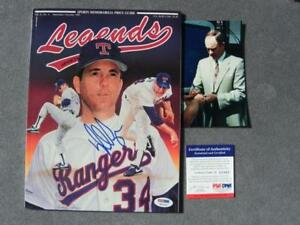 Nolan Ryan Rare signed Legends magazine Mets Rangers HOF PSA/DNA PROOF!